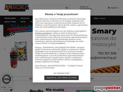 Akcesoria motocyklowe, sklep amracing.pl, części, opony, oleje łódź