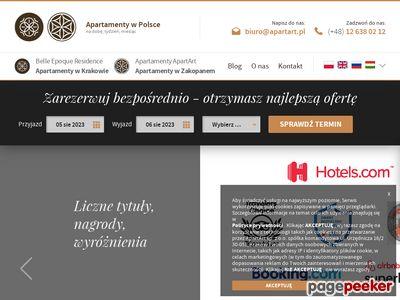 Noclegi apartamenty Kraków, Warszawa, Zakopane