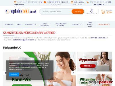 Polska Apteka Internetowa w UK, Polskie Leki