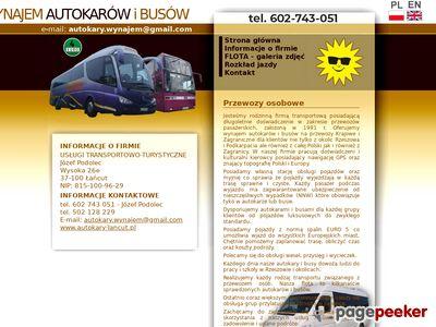 Wynajem busów - Rzeszów, Łańcut