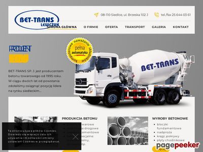 Bet-Trans - usługi przemysłowe
