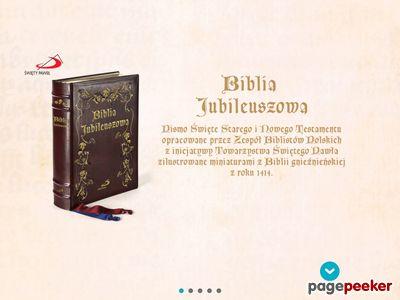 Bibliajubileuszowa.pl - stara Biblia