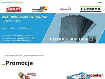 Sklep internetowy z materiałami budowlanymi Warszawa