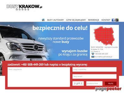 Busy Kraków - wynajem busów i przewóz osób