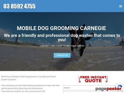 Mobile Dog Grooming Carnegie - Best Mobile Dog Groomer in Carnegie, VIC