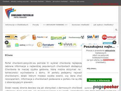 Opinie o pożyczkach - www.chwilowki-pozyczki.eu