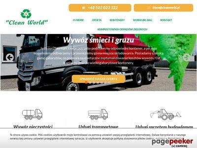 CLEAN WORLD FIRMA HANDLOWO-USŁUGOWA MAREK WOCH wołomin wywóz gruzu radzymin