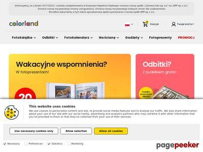 Fotoksiążki, fotokalendarze i odbitki | colorland.pl