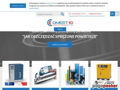 Dmuchawy, sprężarki, sieci sprężonego powietrza, automatyka przemysłowa - COMEST