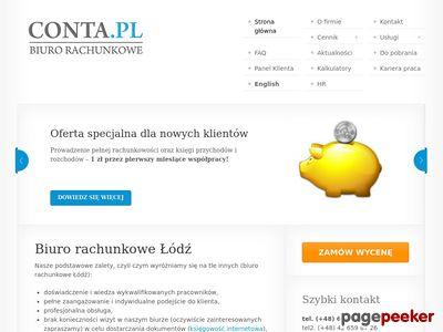 Biuro Rachunkowe Łódź - Conta.pl, Księgowość
