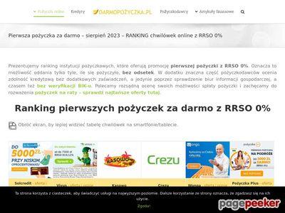 Pierwsza Pożyczka za Darmo - porównanie i ranking
