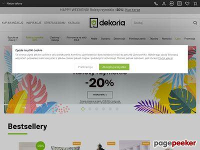 Dekoracje okien - www.dekoria.pl