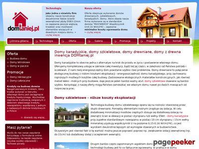Domy drewniane, domy z drewna, domy kanadyjskie