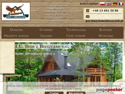 Dom z Bieszczad domy z bali domy drewniane