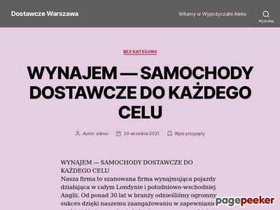 Wypożyczalnia aut dostawczych Warszawa