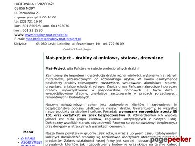 MAT-PROJECT Drabiny dachowe