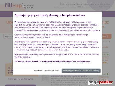 fillUp - Formularze podatkowe