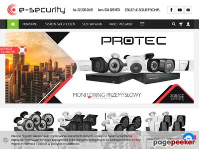 E-Security monitoring i domofony Commax