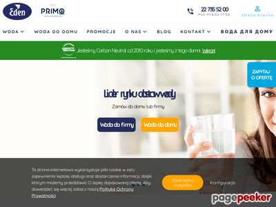 Eden.pl - Dostawca wody i kawy do firmy.