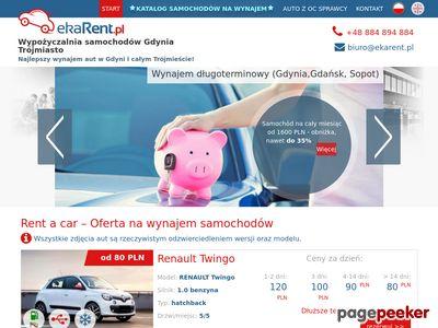 Wypożyczalnia samochodów EkaRent - wynajmij auto w Gdańsku i Gdyni