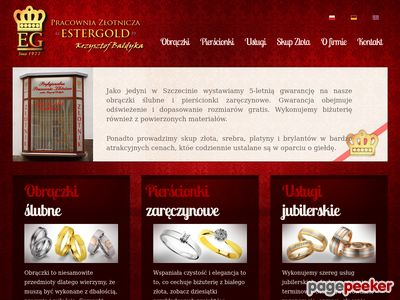 Ester Gold-zlotnik, jubiler, obraczki, skup zlota i srebra.