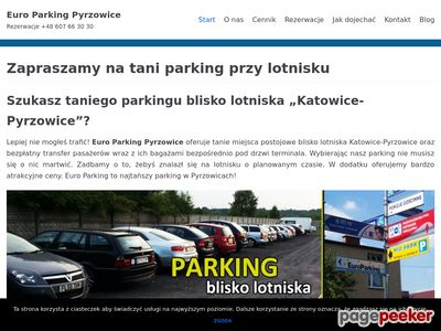 Tani parking Pyrzowice - Euro Parking