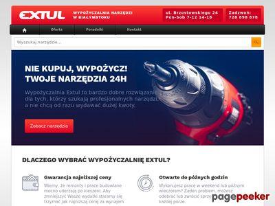 Extul.pl - wypożyczalnia elektronarzędzi Białystok