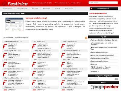 Lista stron - www.festinice.org