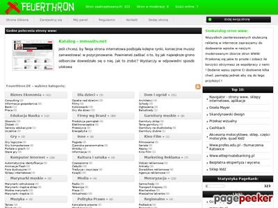 Wartościowe strony WWW - www.feuerthron.de