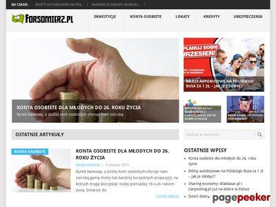 Forsomierz.pl - Oszczędzanie, inwestycje, produkty finansowe