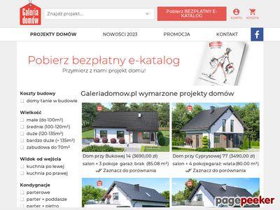 Projekty DOMÓW | GaleriaDomow.pl