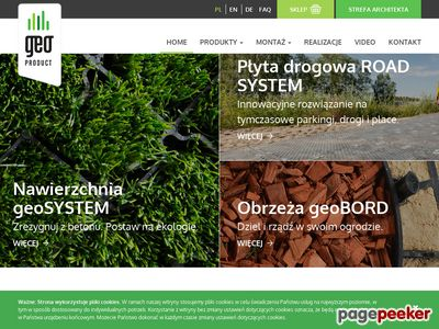 Obrzeża trawnikowe • Kratka trawnikowa • geoPRODUCT