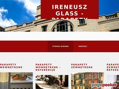 Ireneusz Glass - parapety wewnętrzne i zewnętrzne