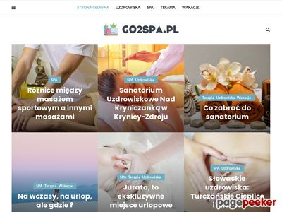 Go2Spa.pl pobyty w hotelach spa, weekendy w SPA, bony do spa. | go2spa