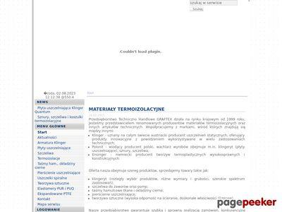 Http://www.graftex.pl materiały termoizolacyjne