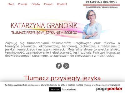 Tłumaczenia Katarzyna Granosik