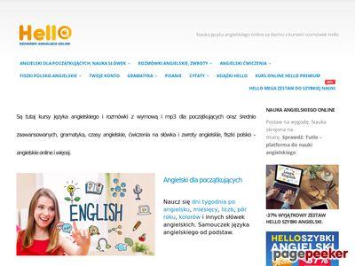 Hello Darmowa Nauka Jezyka Angielskiego