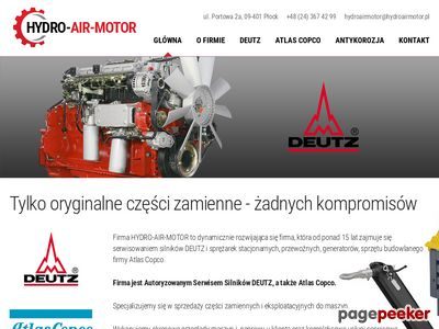 Hydroairmotor. Adamiak G. Płock serwis atlas copco