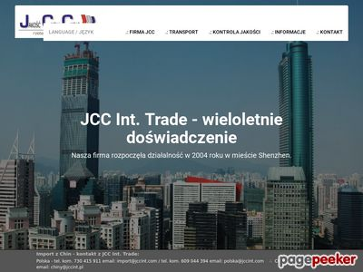 Import oraz transport z Chin JCC International Trade
