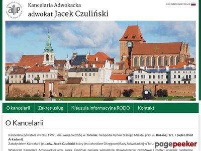 Kancelaria Adwokacka Toruń Jacek Czuliński - adwokat, pełnomocnik, prawo karne, cywilne.