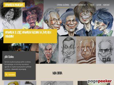 Karykatury i filmy – strona rysownika