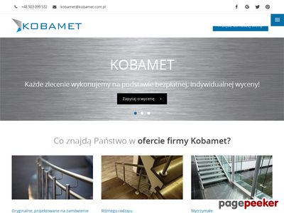 balustrady nierdzewne - KOBAMET