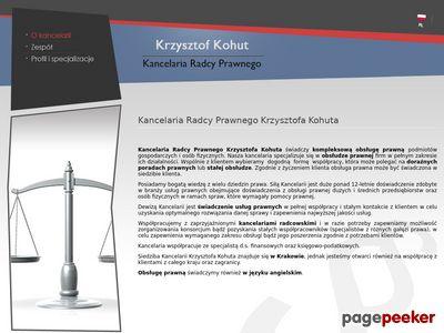 Radca prawny K. Kohut • Kancelaria, porady prawne, doradztwo • Kraków