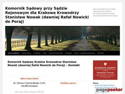 Komornik Sądowy przy Sądzie Rejonowym dla Krakowa Krowodrzy Rafał Nowicki de Poraj