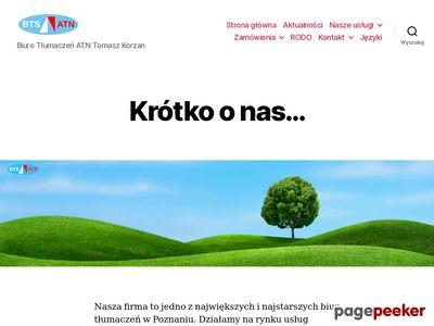 Tomasz Korzan - Biuro Tłumaczeń Specjalistycznych ATN