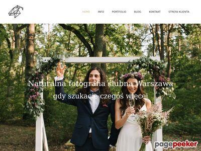 Wykwalifikowany fotograf ślubny - Warszawa