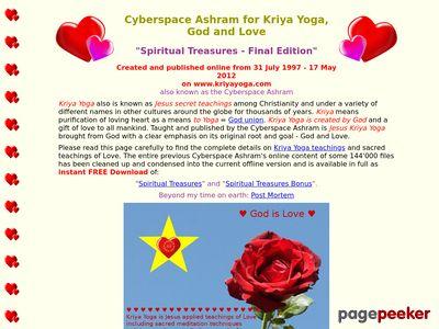 Cyberspace Ashram for Kriya Yoga