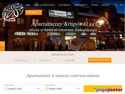 Apartamenty pokoje i noclegi w Zakopanem – krupowki24.pl