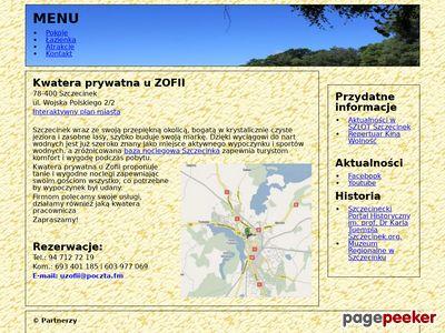 Noclegi Szczecinek, pokoje i kwatery w Szczecinku, kwatery pracownicze - U Zofii