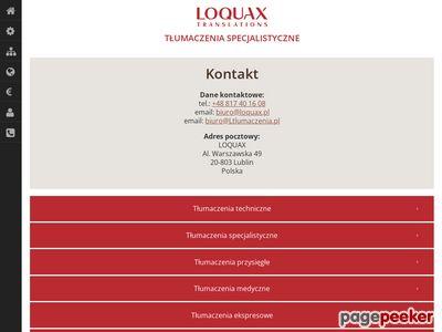 Tłumaczenia Loquax.pl